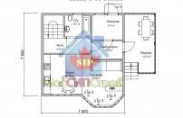 Проект дома из СИП панелей Брук - МосСипСтрой (изображение 1)