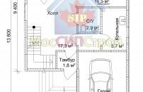 Проект дома из СИП панелей Эльбрук - МосСипСтрой (изображение 2)
