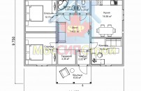 Проект дома из СИП панелей Экодом - МосСипСтрой (изображение 1)