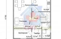 Проект дома из СИП панелей Зельва - МосСипСтрой (изображение 2)