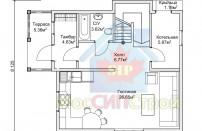Проект дома из СИП панелей Цок - МосСипСтрой (изображение 2)