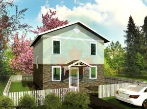 Проект дома из сип панелей Эконом