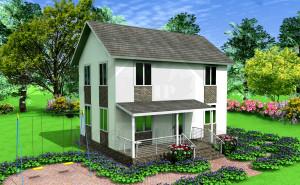 Проект дома из сип панелей Винево
