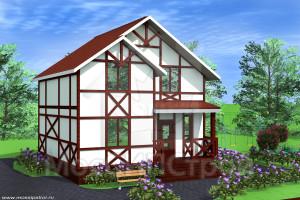 Проект дома из сип панелей Фахверк