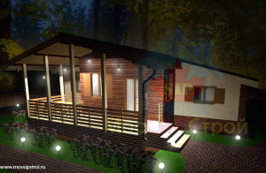 Проект дома из сип панелей Лесной
