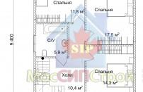 Проект дома из СИП панелей Эльбрук - МосСипСтрой (изображение 3)