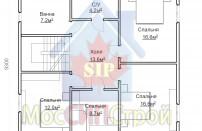 Проект дома из СИП панелей Браво - МосСипСтрой (изображение 3)