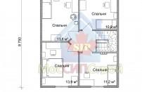 Проект дома из СИП панелей Зельва - МосСипСтрой (изображение 3)