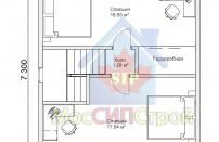 Проект дома из СИП панелей Классика - МосСипСтрой (изображение 3)