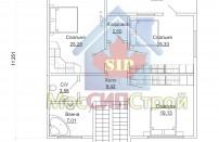 Проект дома из СИП панелей Македония - МосСипСтрой (изображение 3)
