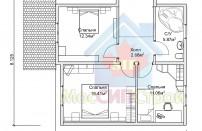 Проект дома из СИП панелей Цок - МосСипСтрой (изображение 3)