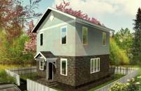 Проект дома из СИП панелей Эконом - МосСипСтрой (изображение 1)