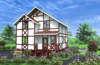 Проект дома из СИП панелей Фахверк - МосСипСтрой (изображение 1)
