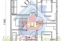 Проект дома из СИП панелей Эконом - МосСипСтрой (изображение 4)