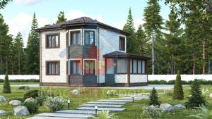 Проект дома из СИП панелей Брук - МосСипСтрой