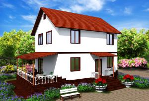Проект дома из сип панелей Марсель
