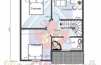 Проект дома из СИП панелей Фахверк - МосСипСтрой (изображение 3)