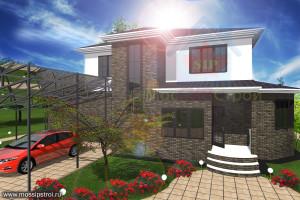 Проект дома из сип панелей Македания