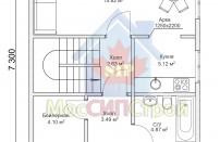 Проект дома из СИП панелей Классика - МосСипСтрой (изображение 2)