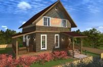 Проект дома из СИП панелей Екатерина - МосСипСтрой (изображение 1)