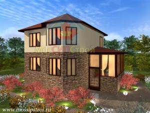 Проект дома из сип панелей Брук