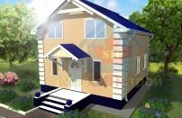Проект дома из СИП панелей Классика - МосСипСтрой (изображение 1)