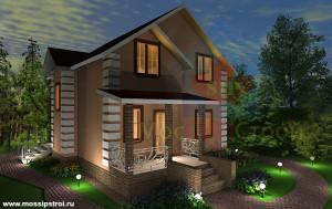 Проект дома из сип панелей Цок