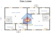 Проект дома из СИП панелей Дуплекс-1 и Дуплекс-2 - МосСипСтрой (изображение 1)