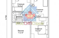 Проект дома из СИП панелей Зельва-2  - МосСипСтрой (изображение 2)
