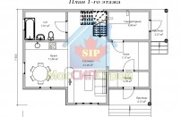 Проект дома из СИП панелей Лора - МосСипСтрой (изображение 2)