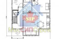 Проект дома из СИП панелей Дубовик - МосСипСтрой (изображение 2)