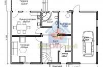 Проект дома из СИП панелей Канадец - МосСипСтрой (изображение 1)