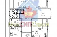 Проект дома из СИП панелей Руно - МосСипСтрой (изображение 2)