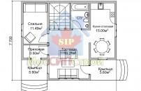 Проект дома из СИП панелей София - МосСипСтрой (изображение 2)