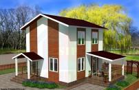 Проект дома из СИП панелей Муза - МосСипСтрой (изображение 1)