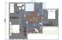 Проект дома из СИП панелей Бриз - МосСипСтрой (изображение 3)