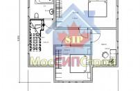 Проект дома из СИП панелей Дубовик - МосСипСтрой (изображение 3)