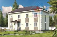 Проект дома из СИП панелей Дуплекс №1 на 2 семьи - МосСипСтрой (изображение 1)