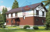 Проект дома из СИП панелей Дуплекс №2 на 2 семьи - МосСипСтрой (изображение 1)