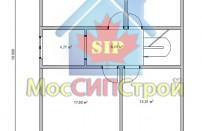 Проект дома из СИП панелей Чехов - МосСипСтрой (изображение 1)