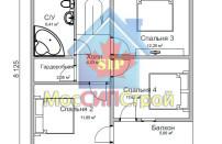 Проект дома из СИП панелей Глория - МосСипСтрой (изображение 2)