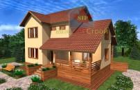 Проект дома из СИП панелей Бриз - МосСипСтрой (изображение 1)