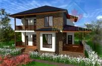 Проект дома из СИП панелей Альтенбург - МосСипСтрой (изображение 1)