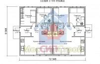 Проект дома из СИП панелей Близнец - МосСипСтрой (изображение 2)