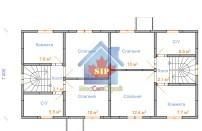Проект дома из СИП панелей Дуплекс №1 на 2 семьи - МосСипСтрой (изображение 6)