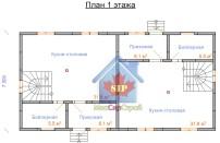 Проект дома из СИП панелей Дуплекс №1 на 2 семьи - МосСипСтрой (изображение 5)