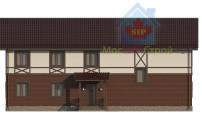 Проект дома из СИП панелей Дуплекс №2 на 2 семьи - МосСипСтрой (изображение 2)