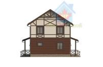 Проект дома из СИП панелей Дуплекс №2 на 2 семьи - МосСипСтрой (изображение 4)