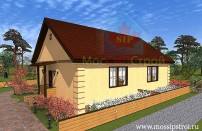 Проект дома из СИП панелей Близнец - МосСипСтрой (изображение 1)