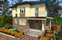 Проект дома из СИП панелей Лора - МосСипСтрой (изображение 1)